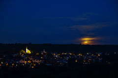 Ingelheim at Full Moon (airspex) Tags: approved rheinhessen ingelheim night nightlights nightsky skyatnight moon fullmoon moonlight
