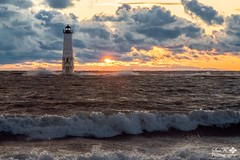 A Stirred Sunset (SueFi Photography) Tags: frankfort fall autum stormy clouds water