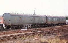 V 975943 975937 190885 (stevenjeremy25) Tags: lms parcel van railway coach carriage train 975937 975943 departmental m31060 31060 m31092 31092