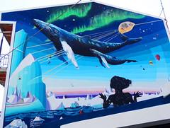 """Greenland lo scioglimento dei ghiacciai"" (antonè) Tags: murales balena giorgiocasu greenland sangavinomonreale sardegna campidano streetart baleine whale wal вхале balina frësch"