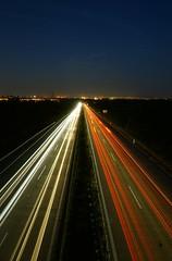 Highway to horizon (tadeas_h) Tags: sony sonya7 mirrorless fullframe night nightphoto longexposure sky cityscape cityhorizon city view metropolis road highway motion august summer 2019 summertime summeradventure summernight lights