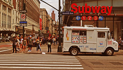 Manhattan Seventh Avenue (Harry Szpilmann) Tags: newyork subway people seventhavenue manhattan truck icecream nyc streetphotography