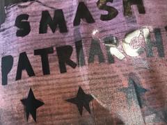 Smash Patriarchy on black flag (artnoose) Tags: birthday black sunrise stars smash rainbow flag flags screenprinting roll patriarchy screenprinted