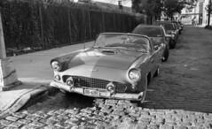 Hudson Avenue (neilsonabeel) Tags: pentaxspotmaticf pentax spotmatic takumar film analogue car vehicle blackandwhite brooklyn newyorkcity street cobblestones vintage spotmaticf m42