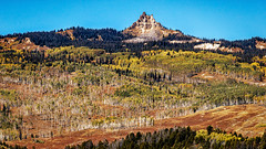 Castle Peak in Colorado (rigpa8) Tags: september fall mountainpeaks prominentpeaks coloradopeaks mountains aspen aspenforests landscapes ngysaex