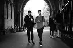 In the Abbey Gate (Bury Gardener) Tags: blackandwhite bw monochrome mono burystedmunds suffolk england eastanglia uk streetphotography street streetcandids snaps strangers candid candids people peoplewatching folks fujixt3 fuji fujifilm abbeygardens