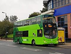 Bramley's First ...... Leeds City, YJ58 RRV ( 37662 ) (munden.chris) Tags: leedscity first bramleygarage yj58rrv 37662 volvo wright