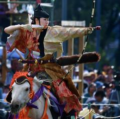 八王子流鏑馬 Hachioji Equestrian Archery 14 (ashleybrownpix) Tags: japan horse archery traditional costume
