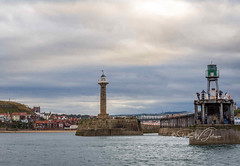 SJ2_2052 - Out of Whitby... (SWJuk) Tags: swjuk uk unitedkingdom gb britain england yorkshire northyorkshire yorkshirecoast whitby harbour lighthouse pier pierextension sea seaside coast coastal water town clouds cloudy nikon d7200 nikond7200 nikkor1755mmf28 rawnef lightroomclassiccc