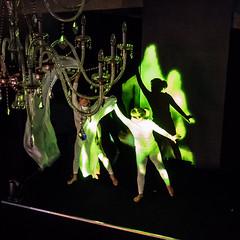 Berlin Bad Guy (genelabo) Tags: berlin bad guy kinekt tiefenkamera interaktiv dancer tänzerinnen expo real lbbw immobilien parkcafe mnchen munich wächter ssm luxav crushed eyes media visuals live square quadrat green grün mapping tracking shadow schatten kronleuchter