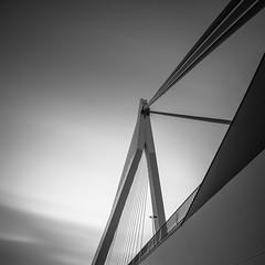 Erasmusbrug 1.2 (s.W.s.) Tags: rotterdam netherlands holland europe erasmusbrug urban city architecture architectural bridge sky clouds neutraldensity longexposure nikon lightroom