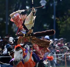 八王子流鏑馬 Hachioji Equestrian Archery 13 (ashleybrownpix) Tags: japan horse archery traditional costume