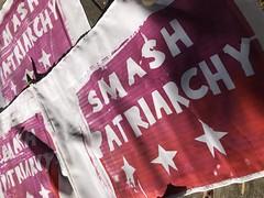 Smash Patriarchy (artnoose) Tags: diy stars birthday flags patriarchy smash screenprinted screenprinting red
