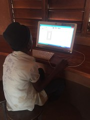 Children using the Tech hub at Mumuni Library (Lubuto Library Partners) Tags: lubutolibrarypartners lubutolibrary publiclibrary lubuto library africa zambia children youth ovc technology computers