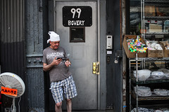 Cook (Nun Nicer Artist) Tags: manhattan hotday hot newyork nunnicer nyc citylife cook restaurant walking breaktime break timeout 35mmstreetphotography streetphotography 35mm worker standing street