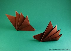 Sydney (mancinerie) Tags: origami paperfolding papiroflexia papierfalten francescomancini mancinerie hedgehog porcupine origamihedgehog