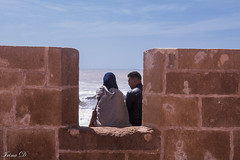 Private conversation (Irina1010) Tags: fortress walls atlantic people conversation sky essaouira mogador genoesefortress morocco canon