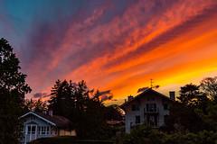 Sunset (FVillalpando) Tags: sunset clouds sky nature colours hoses geneva ngysa trees