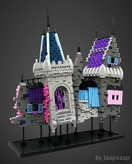 Study on Wallsection 19J (jaapxaap) Tags: lego creation by jaapxaap fantasy castle medieval study textures colours purple pink blue grey art abstract concept angles