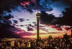 Johannesburg 1970's (Sheldrickfalls) Tags: johannesburg joburg joeys sunset strijdomtower hillbrowtower gauteng transvaal southafrica