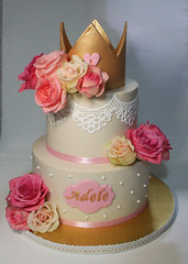 Princess Cake (Passione: Cupcakes!) Tags: cake cakedecoration cakedesign princesscake rosescake cakeroses cakecrown tartaprincesa tortaprincipessa tartacorona tortacorona