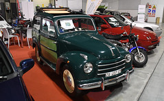 Fiat 500 C giardinetta (1954) // ZA-407-GY (baffalie) Tags: auto voiture ancienne vintage classic old car coche retro expo italia sport automobile racing motor show collection club course race circuit italie milan fiera moto bike motorbike motocycle