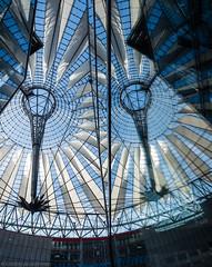 It's meant to resemble Fujisan (katrin glaesmann) Tags: berlin sonycenter helmutjahn murphyjahnarchitects waagnerbiro reflection mirror spiegelung roof potsdamerplatz