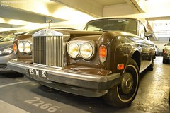 Rolls Royce Corniche Convertible (Monde-Auto Passion Photos) Tags: voiture vehicule auto automobile cars rollsroyce rolls royce corniche convertible cabriolet spider roadster marron brown ancienne classique collection rare rareté parking sousterrain foch france paris