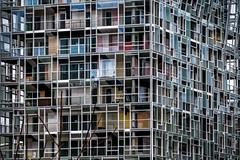 Tour Ycone (Lucille-bs) Tags: europe france auvergnerhônealpes rhône lyon ycone jeannouvel architecture habitation détail confluence fenêtre tour balcon