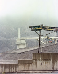 Rybnica Leśna, Poland. (wojszyca) Tags: intrepid camera 4x5 largeformat fujinon w 210mm kodak portra 400 epson v800 mine mining industry industrial fog haze