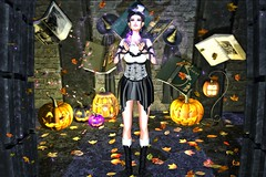Wingardium Leviosa 👻 (ღ Sɑrɑɑh Drɑgoone ღ) Tags: pinkcrampie 2ndchance salem mosquitosway tfs nomatch maitreya catwa witch halloween pumpkin hat boots dress books autumn spiders avatar av bentoav body brazil blogger black brunet backdrop cute delicius devil event fashion face fun girl gorgeous gameonline girls head hair hands pic lifestyle wix luzes lady mesh meshhead new outfit woman love pose power photo pretty princess queen retrato secondlife sexy sl shop sensual sweet secondlifephoto style shoes