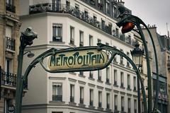 Paris Métro (hha_photo) Tags: paris france metro europe subway artnouveau sign hectorguimard vintage metropolitain guimard
