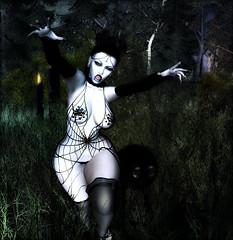 When the Darkness bites back (IsaLapis) Tags: halloween gothic slgothic slgoth vampire slvampire slvampires vampyre slvampyre monochrome spooky haunted demon demonicvampire
