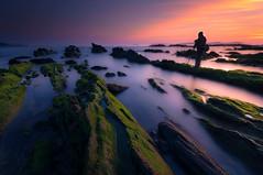 Playa de Bascuas (jojesari) Tags: playadebascuas playanudista sanxenxo portonovo pontevedra galicia ocaso sunset atardecer puestadesol solpor largaexposición longexposure filtros nisi haida