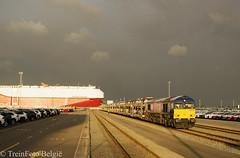 HSL 653-03 ICO Zeebrugge (TreinFoto België) Tags: 65303 266 113 class 66 gm beacon rail hsl logistik belgium zeebrugge ramskapelle ico toyota blg belgien belgië belgique