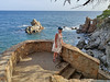 Steps (piotr_szymanek) Tags: lloret costabrava lloretdemar marzka woman milf portrait outdoor water sea face dress legs feet eyesoncamera glasses sunglasses