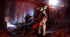 The Death is coming (meriluu17) Tags: moonamore poseidon death dead kill ghost end blood bloody red scary devil redhead fantasy surrea surreal people