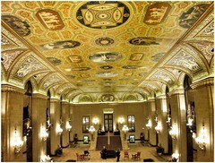 Palmer House Hilton ~ Chicago Il ~ Lobby Area (Onasill ~ Bill Badzo - New Format) Tags: cuba newyork usa palmer house hilton chicago il illinois hotel architecture school style architect holabird roche landmark loop district nrhp places register retail historic onasill ipad apps clock c d peacock jewelry interior lobby area ceiling grand staircase historichotel downtown loopdistrict fort dearborn cookcounty 1001nights 1001nightsmagiccity unitedstates