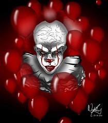 My friend Pennywise......., Mi Amigo Pennywise........ (Joerg Kaftan) Tags: pennywise clown scareddancer it horror movie payaso miedobailarin terror pelicula eso