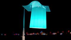 Lantern on the beach of Side (Turkey) (dl1ydn) Tags: dl1ydn side turkey lamp beleuchtung lampe leuchte night manuell manualfocus carlzeiss planar 50mmf14 art
