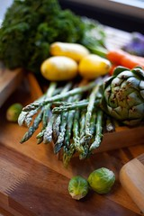 Healthy Eating (MarketeeringGroup) Tags: veggies vegetables raw asparagus carrots beets squash onions chop kitchen food healthy health cooking