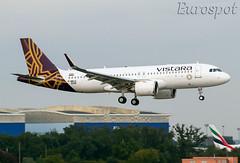 F-WWIS Airbus A320 Neo Vistara (@Eurospot) Tags: lfbo toulouse blagnac vttnr fwwis airbus a320 neo 9296 vistara