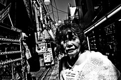 Close Up Tokyo (Victor Borst) Tags: street streetphotography streetlife reallife real realpeople asian asia asians faces face candid travel travelling trip traveling urban urbanroots urbanjungle blackandwhite bw mono monotone monochrome nakano mo old oldlady fuji fujifilm xpro2 expression expressions japan japanese tokyo city cityscape citylife