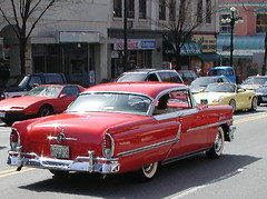 1955 Mercury Montclair 2-door hardtop (D70) Tags: 2door hardtop red newwestminster britishcolumbia easter parade 1955 mercury montclair chrome whitewall tires