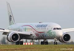 Boeing 787-9 Aeromexico Quetzalcoatl Livery (Moments de Capture) Tags: boeing 7879 b787 787 aeromexico xaadl aircraft plane avion aeroport airport spotting lfpg cdg roissy charlesdegaulle onclejohn canon 5d mark3 5d3 mk3 momentsdecapture quetzalcoatllivery