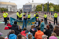 Blocking of Lambeth Bridge by Extinction Rebellion, London