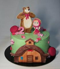 Masha And Bear Cake (Passione: Cupcakes!) Tags: cake cakedesign cakedecoration mashaandbear mashacake mashaeorso mashayoso tortamashaorso tartamashayoso decoratedbiscuits decoratedcookies handpaintedbiscuits handpaintedcookies