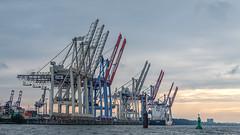 Hamburg Hafen - cranes (Stefan Giese) Tags: fujixt2 fuji xt2 fujilove hamburg hafen harbour infrastructure infrastruktur kran crane