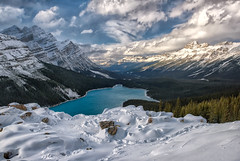 Snowy Peyto Lake (Phil's Pixels) Tags: peytolake snow bowsummit icefieldsparkway canadianrockies lakes glacialwaters banff banffnationalpark alberta canada canadianthanksgiving