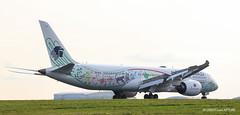 Boeing 787-9 Aeromexico Quetzalcoatl Livery (Moments de Capture) Tags: plane airport aircraft boeing aeroport charlesdegaulle spotting avion roissy cdg aeromexico 787 b787 lfpg 7879 xaadl canon 5d mk3 mark3 5d3 onclejohn momentsdecapture quetzalcoatllivery